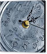 Old Silver Clock Canvas Print by Carlos Caetano