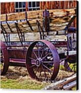 Old Wagon Bodie Ghost Town Canvas Print by Garry Gay