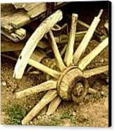 Old Wagon Wheel Canvas Print by Susie Weaver