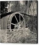 Old West Water Mill 3 Canvas Print by Darcy Michaelchuk