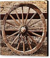 Old West Wheel Canvas Print by Kelley King