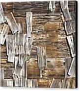 Old Wood Shingles On Building, Mendocino, California, Ca Canvas Print by Paul Edmondson
