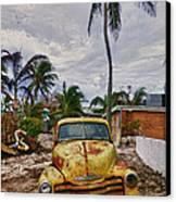 Old Yellow Truck Florida Canvas Print by Garry Gay