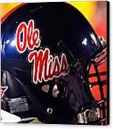 Ole Miss Football Helmet Canvas Print