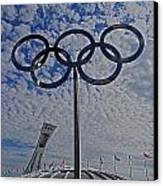 Olympic Stadium Montreal Canvas Print by Juergen Weiss