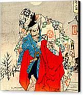 Omori And Demon Princess 1880 Canvas Print by Padre Art