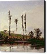 On The Outskirts Of Paris Canvas Print by Camille Pissarro