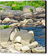 On The Rock Canvas Print