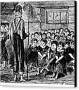One-room Schoolhouse, 1883 Canvas Print