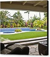 Open Air Luxury Patio Canvas Print