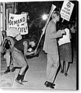 Open Housing Demonstrators Attacked Canvas Print by Everett