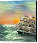 Open Seas Canvas Print by Diane Haas