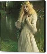 Ophelia Canvas Print by Pascal Adolphe Jean Dagnan Bouveret