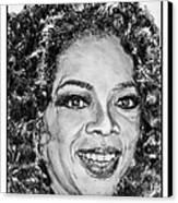 Oprah Winfrey In 2007 Canvas Print