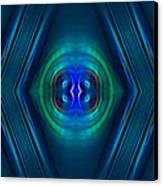 Optical Blue Canvas Print