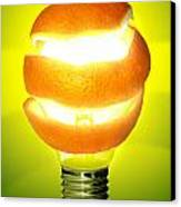 Orange Lamp Canvas Print