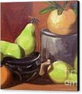 Orange Pears Canvas Print by Lilibeth Andre