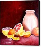 Orange Still Life Canvas Print by Carola Ann-Margret Forsberg