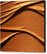 Organic Mahogany Shadows Canvas Print