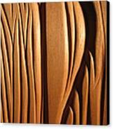 Organic Mahogany Shapes Canvas Print by Charles Dancik