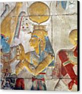 Osiris And Isis, Abydos Canvas Print