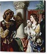 Othello And Desdemona Canvas Print