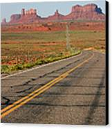 ouest USA route monument valley road Canvas Print