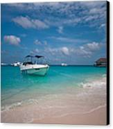 Out Of Border. Maldives Canvas Print by Jenny Rainbow