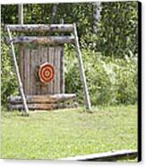 Outdoor Wooden Bulls-eye Canvas Print by Jaak Nilson
