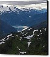 Over Alaska Canvas Print by Mike Reid
