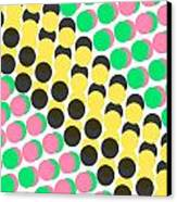 Overlayed Dots Canvas Print by Louisa Knight