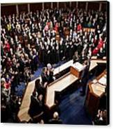 Overview Of The House Chamber Canvas Print by Everett