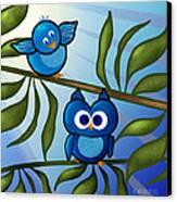Owl Pal Canvas Print by Melisa Meyers