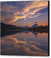 Ox Bow Bend Sunset Canvas Print by Joseph Rossbach