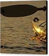 Paddling A Kayak Over Walden Pond Canvas Print