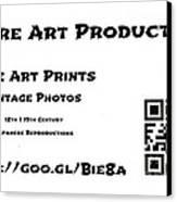 Padre Art Productions Qr Card Canvas Print by Padre Art