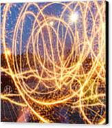 Painting With Sparklers Canvas Print