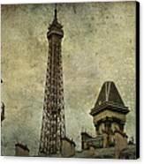 Pale Paris Canvas Print by Georgia Fowler