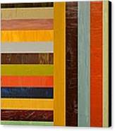 Panel Abstract - Digital Compilation Canvas Print by Michelle Calkins