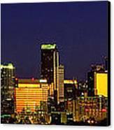 Panoramic Charlotte Nc Skyline Canvas Print
