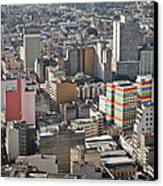 Panoramic View Of Sao Paulo Canvas Print by Jacobo Zanella