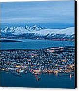 Panoramic View Of Tromso In Norway  Canvas Print by Ulrich Schade