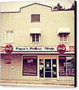 Papa's Poboy's Canvas Print by Scott Pellegrin