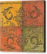 Paprika Scroll Canvas Print