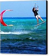 Para Surfing In Cozumel Mexico Canvas Print by Danielle  Parent