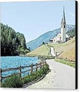 Parish Church St Nicholas Valdurna Italy Canvas Print