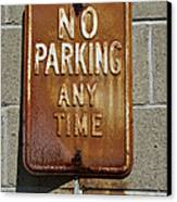 Park Here Canvas Print by Luke Moore