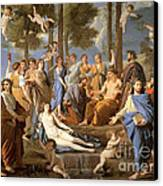Parnassus, Apollo And The Muses, 1635 Canvas Print