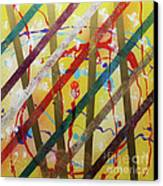 Party - Stripes 2 Canvas Print by Mordecai Colodner