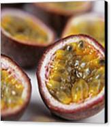 Passion Fruit Halves Canvas Print by Veronique Leplat
